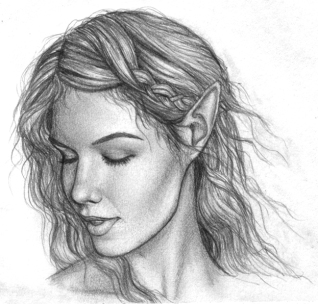 Elf face study B&W
