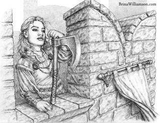 2011. Dwarf Lass on Battlements