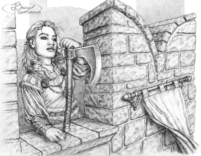 2011 Dwarf Lass on Battlements