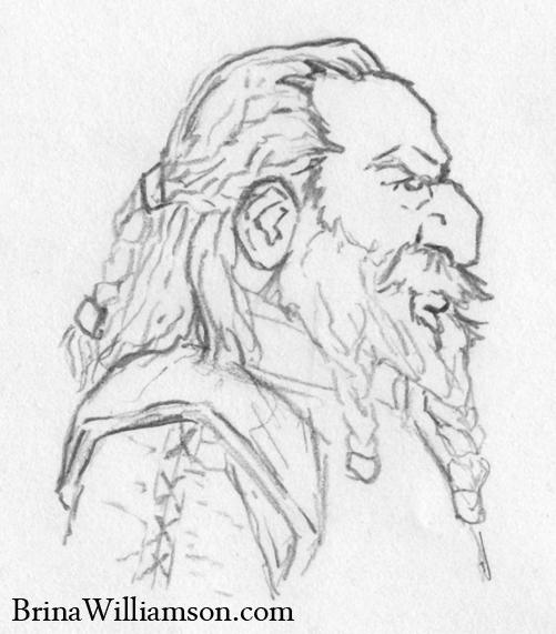 2011. Dwarf Profile Sketch