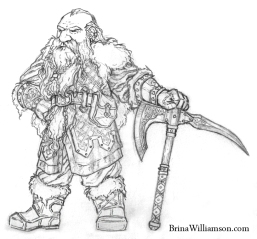 2011. Standing Dwarf Warrior