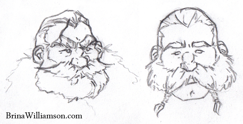 2011. Two Dwarf Sketches