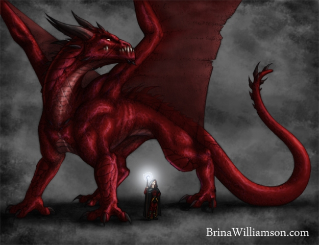 2006. Red Dragon & Wizard