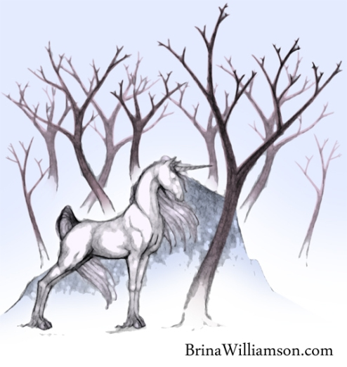 Noble White Unicorn