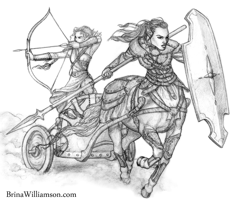 2012. Centaur and Elf
