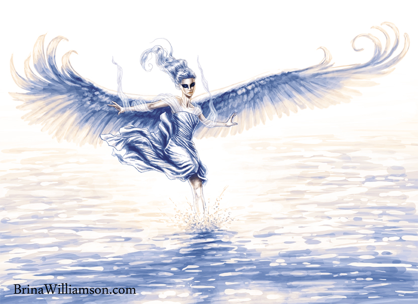 7, Swan Lady on the Waters