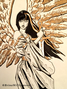 BW, Gold Wings detail