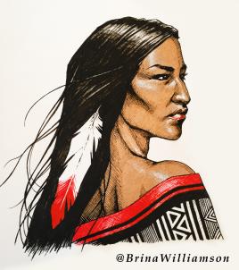 BW, Native Woman detail 2