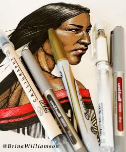 BW, Native Woman pens 2