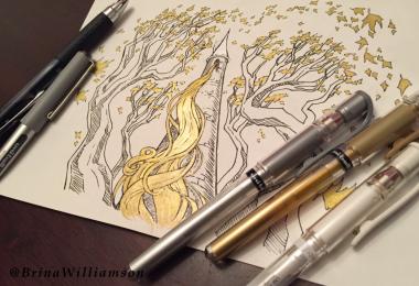 BW, Rapunzel Tower pens