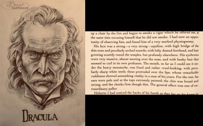 literary portrait, Dracula